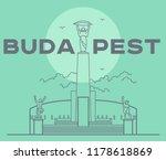 citadel in budapest capital... | Shutterstock .eps vector #1178618869