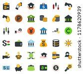 colored vector icon set  ... | Shutterstock .eps vector #1178620939