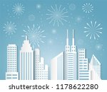 christmas and happy new year... | Shutterstock .eps vector #1178622280