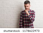 young adult man standing over... | Shutterstock . vector #1178622973