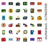 colored vector icon set  ... | Shutterstock .eps vector #1178625430