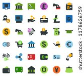 colored vector icon set  ... | Shutterstock .eps vector #1178626759