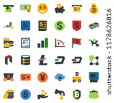 colored vector icon set  ... | Shutterstock .eps vector #1178626816