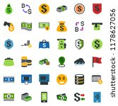 colored vector icon set  ... | Shutterstock .eps vector #1178627056