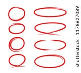 Red Hand Drawn Marker Elements...