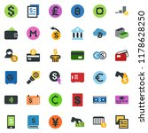 colored vector icon set  ... | Shutterstock .eps vector #1178628250