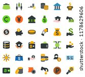 colored vector icon set  ... | Shutterstock .eps vector #1178629606