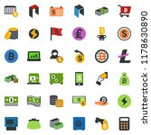 colored vector icon set  ... | Shutterstock .eps vector #1178630890
