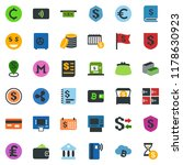 colored vector icon set  ... | Shutterstock .eps vector #1178630923