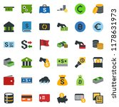 colored vector icon set  ... | Shutterstock .eps vector #1178631973
