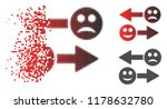 emotion exchange arrows icon in ... | Shutterstock .eps vector #1178632780