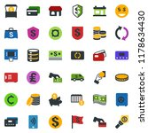 colored vector icon set   shop... | Shutterstock .eps vector #1178634430
