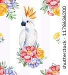 cockatoo seamless  texture with ... | Shutterstock . vector #1178636200