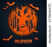 paper art of halloween.haunted... | Shutterstock .eps vector #1178636470