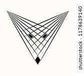 sacred geometry. black ethnic... | Shutterstock .eps vector #1178639140
