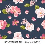 seamless beautiful vintage... | Shutterstock .eps vector #117864244