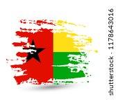 grunge brush stroke with guinea ... | Shutterstock .eps vector #1178643016