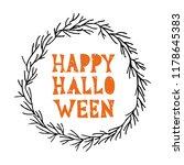 happy halloween   hand... | Shutterstock .eps vector #1178645383