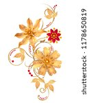 3d rendering. golden stylized... | Shutterstock . vector #1178650819