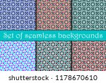 seamless geometric pattern. set.... | Shutterstock .eps vector #1178670610