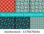 seamless geometric pattern. set.... | Shutterstock .eps vector #1178670646