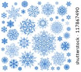 snowflakes christmas vector... | Shutterstock .eps vector #117867490