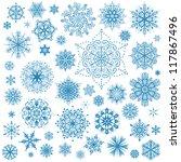 snowflakes christmas vector... | Shutterstock .eps vector #117867496