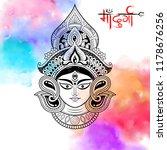 illustration of goddess durga... | Shutterstock .eps vector #1178676256