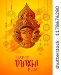 illustration of goddess durga... | Shutterstock .eps vector #1178676280