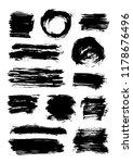 set of 13 scribble elements... | Shutterstock .eps vector #1178676496