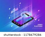 isometric illustrations design... | Shutterstock .eps vector #1178679286