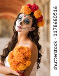 catrina in cemetery with...   Shutterstock . vector #1178680516