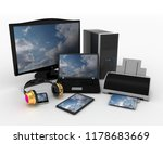 computer devices and office... | Shutterstock . vector #1178683669