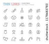 collection of christmas related ... | Shutterstock .eps vector #1178683783