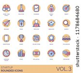 startup rounded icon set. short ... | Shutterstock .eps vector #1178684680
