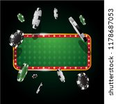 gambling casino banner with... | Shutterstock .eps vector #1178687053