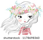 cute girl vector illustration... | Shutterstock .eps vector #1178698360