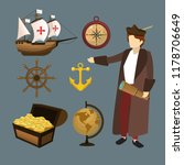 set of columbus day icons | Shutterstock .eps vector #1178706649