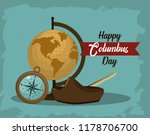 happy columbus day card | Shutterstock .eps vector #1178706700