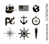 set of travel icons | Shutterstock .eps vector #1178706766