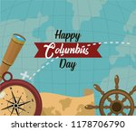 happy columbus day card | Shutterstock .eps vector #1178706790