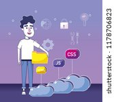 software programmer cartoon | Shutterstock .eps vector #1178706823