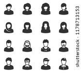 male and female avatars ... | Shutterstock .eps vector #1178713153