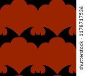 halloween flying bat.  vampire...   Shutterstock .eps vector #1178717536
