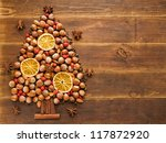 Christmas Tree Made Of Nuts ...