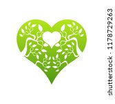 abstract heart tree concept....   Shutterstock .eps vector #1178729263