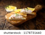 shrimp sandwich with lemon and... | Shutterstock . vector #1178731660