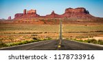 monument valley road | Shutterstock . vector #1178733916