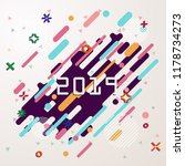 happy new year 2019 geometric... | Shutterstock .eps vector #1178734273