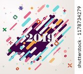happy new year 2019 geometric... | Shutterstock .eps vector #1178734279